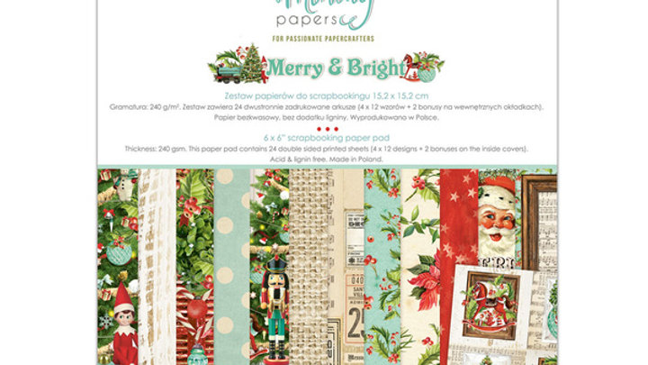 Mintay Merry and Bright 6 x 6