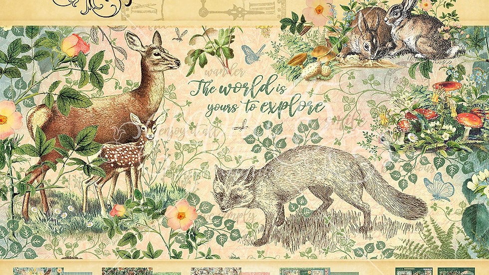 Graphic 45 12x 12 collection Pack Woodland Friends