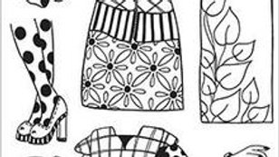 dylusions stamp  Paper Doll