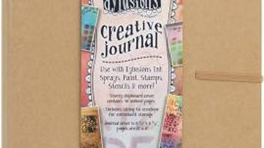 Dylusions Creative Journal - Square Tan