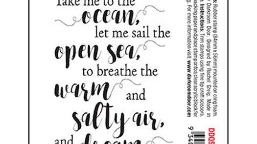 Darkroom Door Quote Stamp - Open Sea