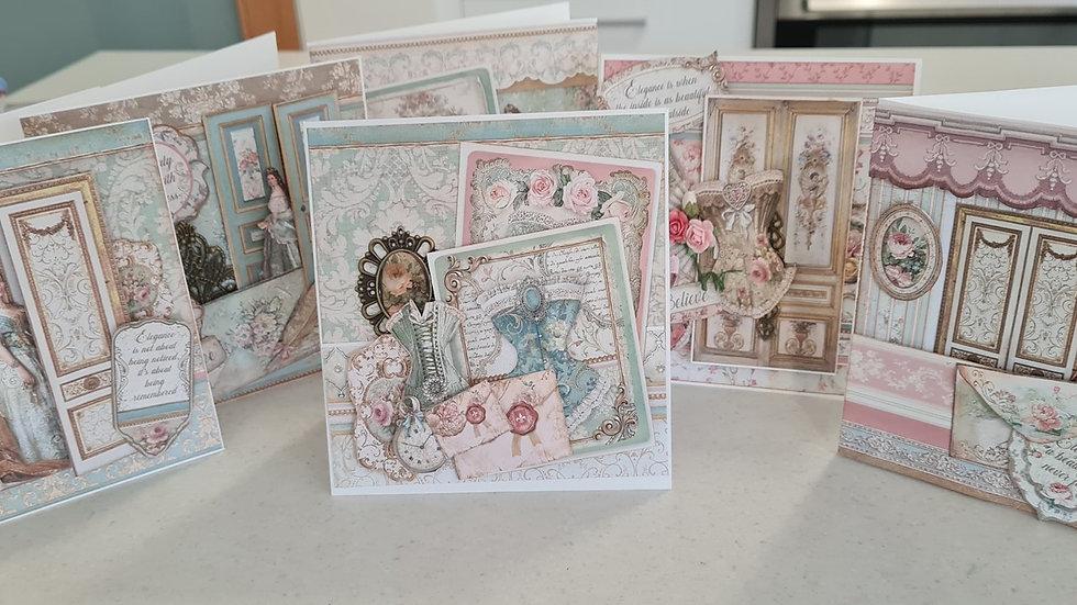 Stamperia Card Set of 6 cards