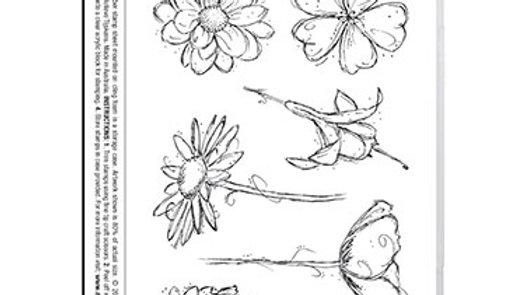 Darkroom Door Rubber Stamp - Fine Flowers Vol 2