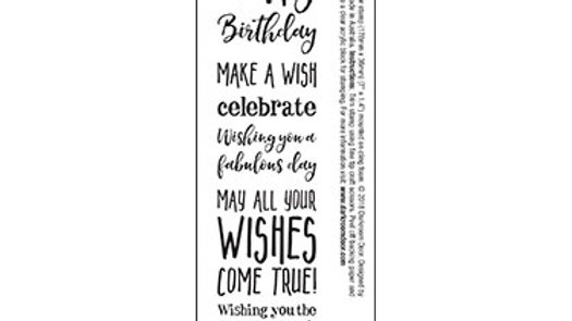 Darkroom Door Sentiment Stamp - Happy Birthday