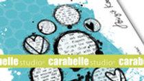 Carabella Studios   Lovely circle cling Stamp