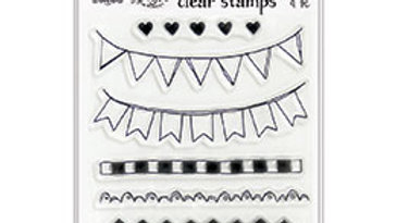 dylusions Dyalog Clear Stamps boarders