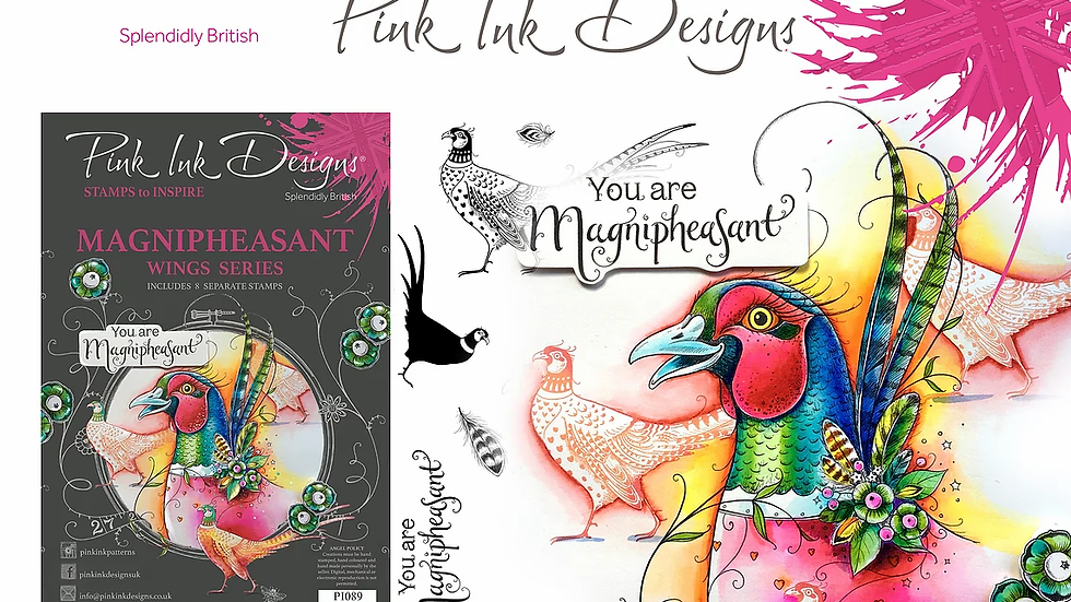 Pink Ink Designs Stamp - Magnipheasant