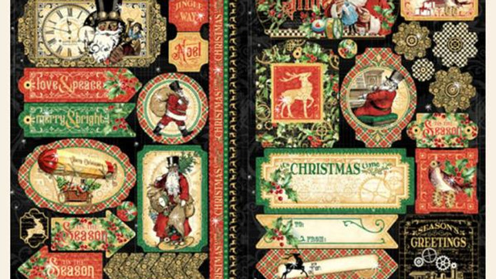 Graphic 45 christmas time  Sticker Sheet