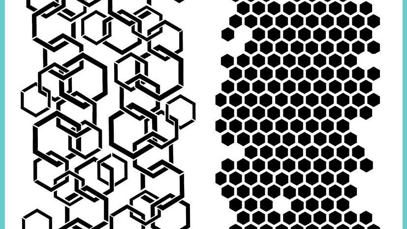 Colour Blast A4 Stencil - Honey Hive