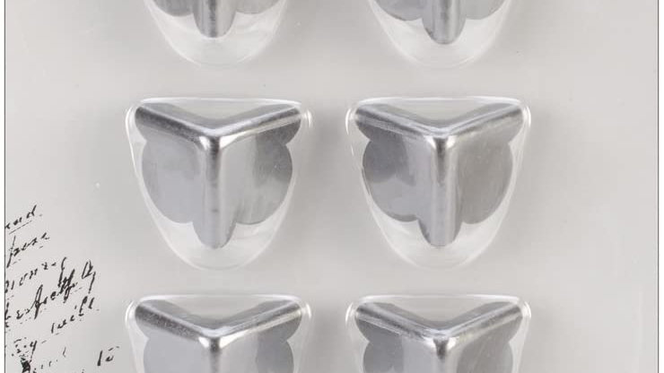 Kaisercraft Metal Corners - Silver
