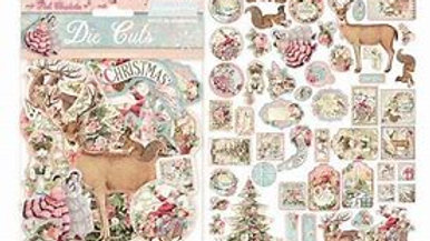 Stamperia pink Christmas Die cuts