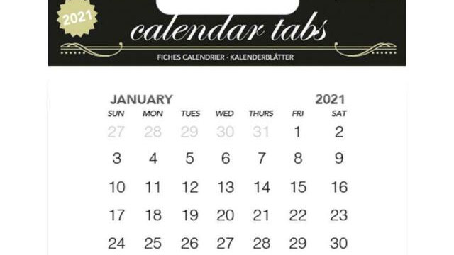 Couture Creations Calendar Tabs 10 pk
