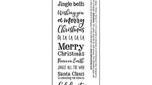 Darkroom Door Sentiment Stamp - Christmas