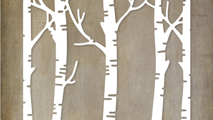 Paper Rose Metal Die - Birch Tree Background Die