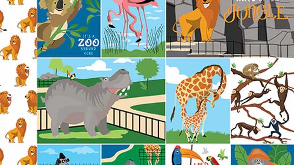 Carta Bella Zoo Adventure Multi Journalling Cards