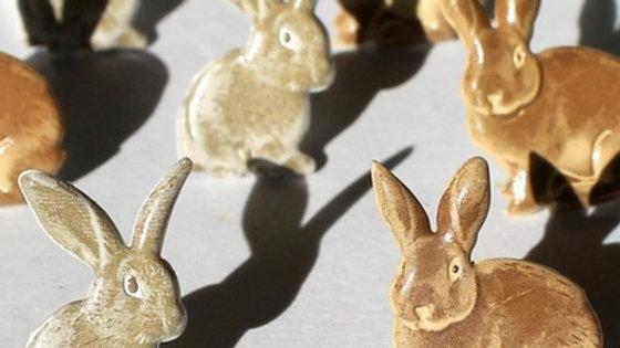 rabbit  Brads 12  pieces