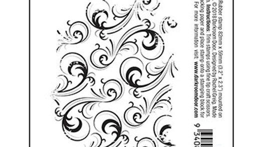 Darkroom Door Texture Stamp - Swirls