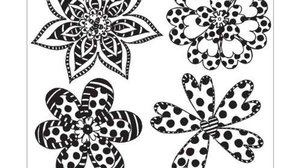 Dylusions Rubber Stamps - Doodle Blooms
