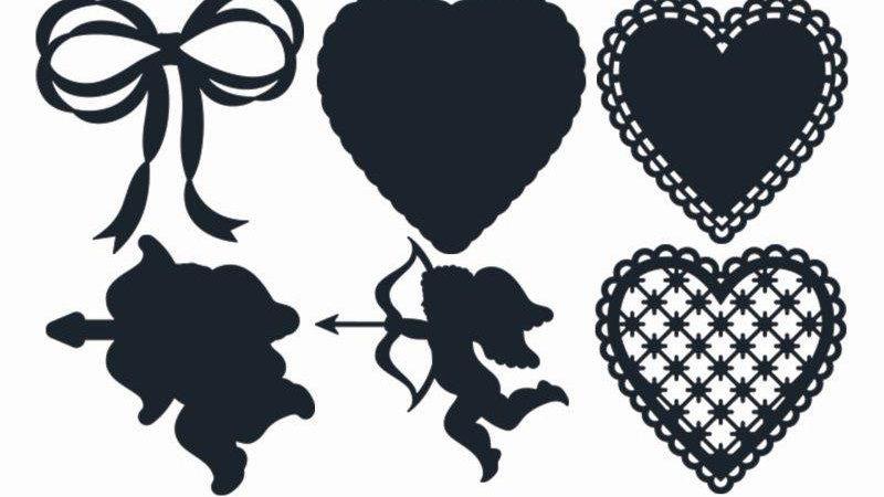 Secret romance Embellishments'Metal die