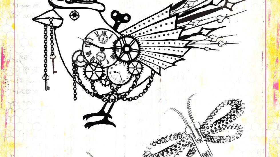 Clear stamp set time flies