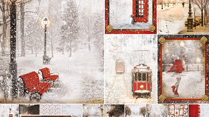 CIAO BELLA Snow in the City  12 x12 pad