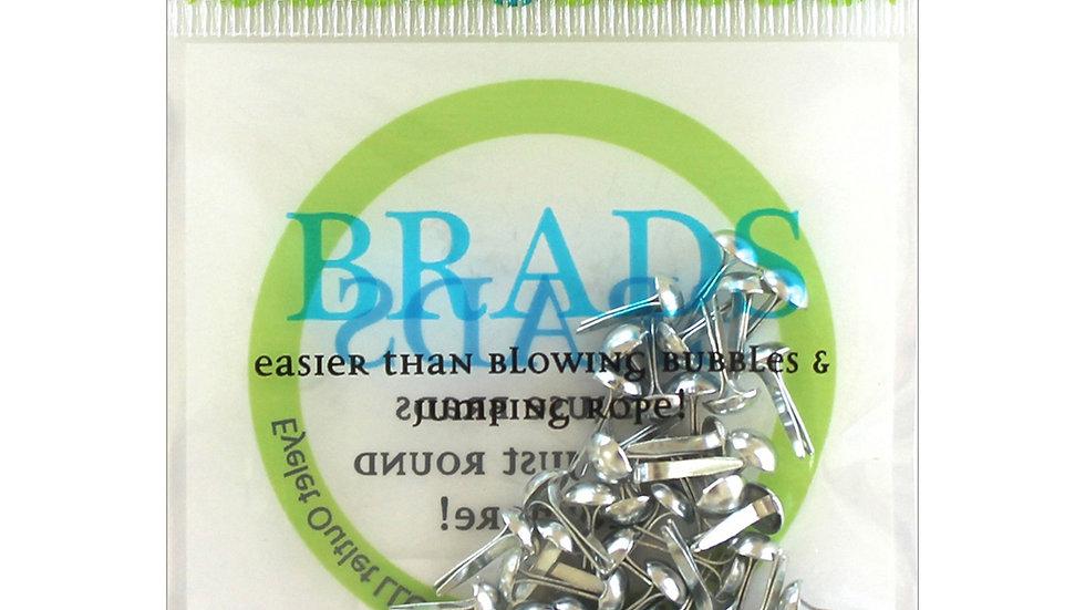 Silver Brads 4 mm 70 pieces