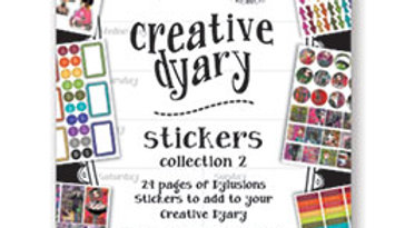 Dylusionss Creative Dyary Sticker book 2