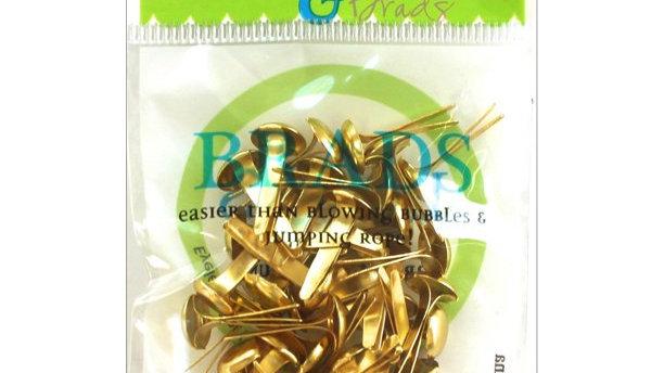 Gold Brads 8mm 40 pieces