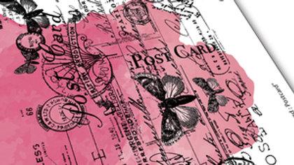 "Carabella Studios Art Stamp ""Background Postcard"""