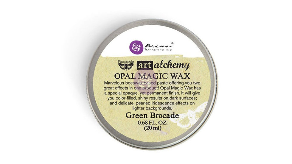 Art Alchemy-Opal Magic Wax-Green Brocade.68oz (20ml)