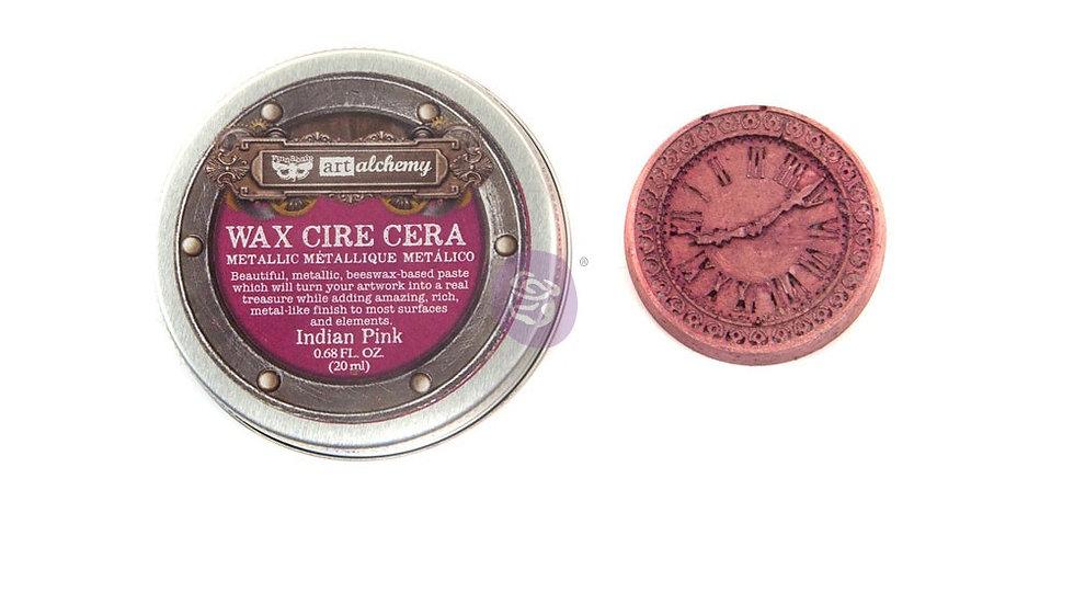 Art Alchemy-Metallique Wax – Indian Pink  .68oz (20ml)