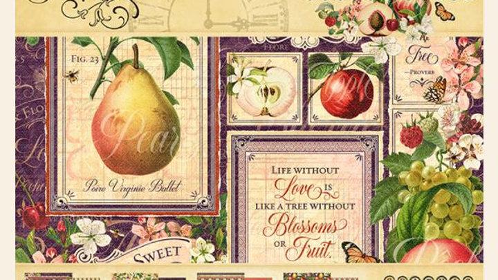 Fruit & Flora - 8x8 Paper Pad