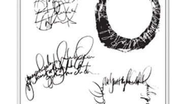 Dina Wakley Stamps       Scribbled Text Elements