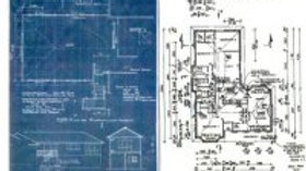 Blue Print Collage Rice  Paper