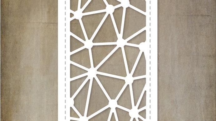 Paper Rose Metal Die - Geometric Border Die