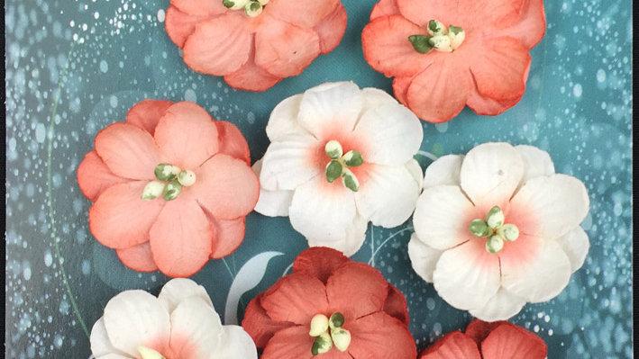 Green Tara Cherry Blossoms Peach 10 pieces