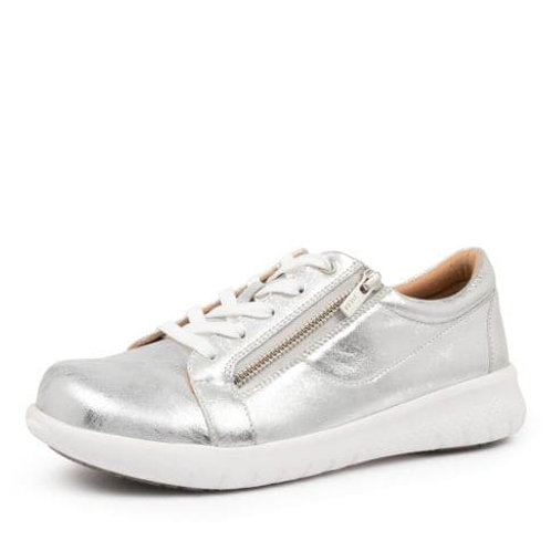 SAYLOR XF Silver Crackle Leather