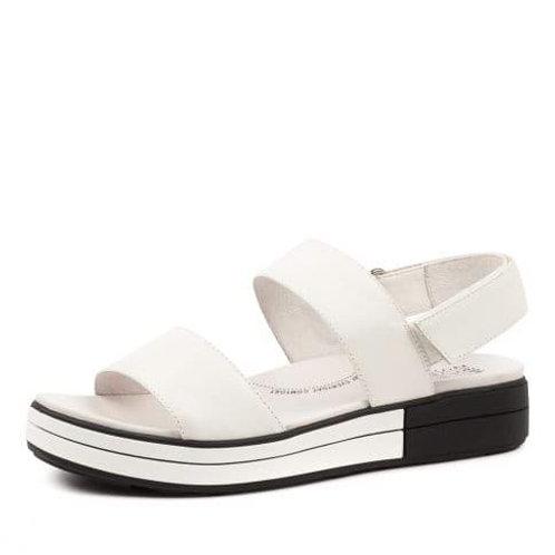 SHERRI W White Leather