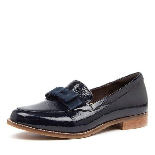 TALISE XF Navy Patent - Suede