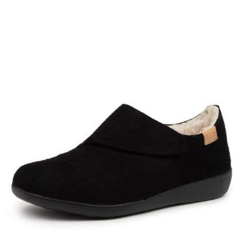 FLISS XW Black Slippers