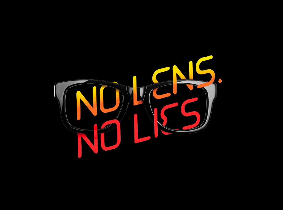 No lens