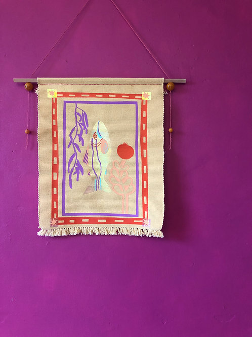 Upcycled Dining Placemat Wall Hanging