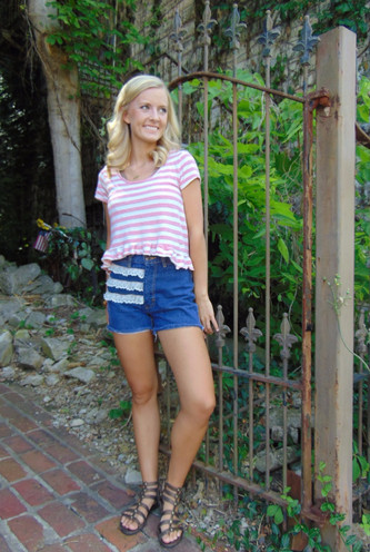#ThriftyThursday: Ruffles and lace jazz up DIY shorts