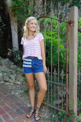 #ThriftyThursday: Ruffles and lace jazz up DIY shorts