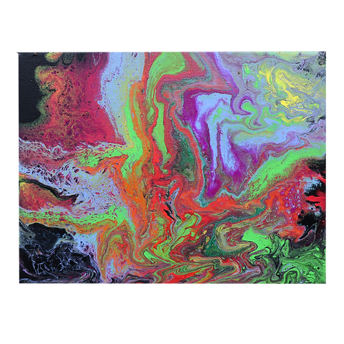 Acrylic Pour Painting 8x10