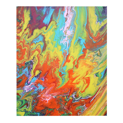 Acrylic Pour Painting 11x14