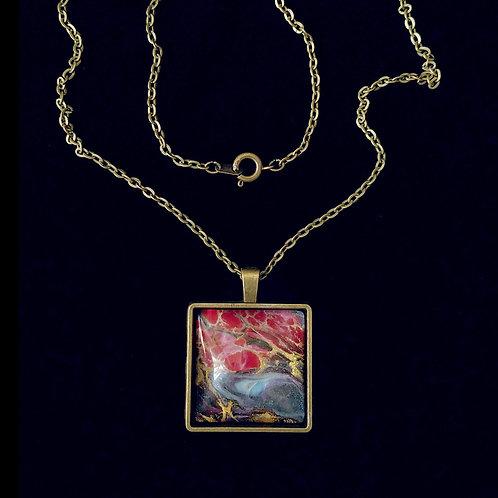 "30"" Brass Pendant Necklace"