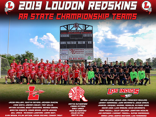 Loudon State AA Championship Teams 2019 (3 Sizes)