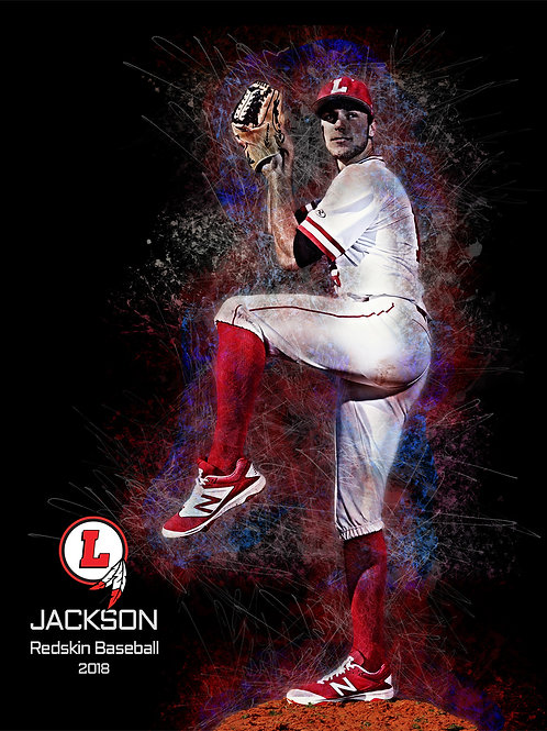 Baseball Player Photo Canvas