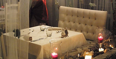 tavolo romantico ristorante borgo casale